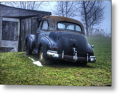 Chevy Runs Deep Metal Print by David Simons