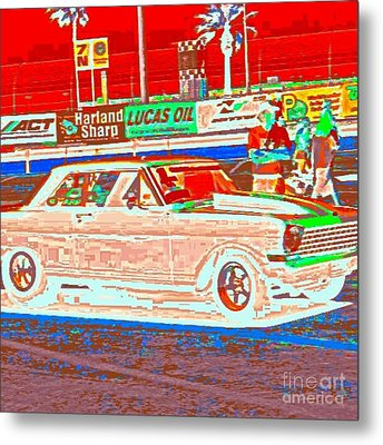 Chevy Shoe Box Metal Print by James Eye