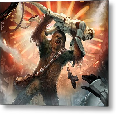 Chewbacca - Star Wars The Card Game Metal Print by Ryan Barger