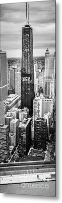 Chicago Aerial Vertical Panoramic Picture Metal Print by Paul Velgos