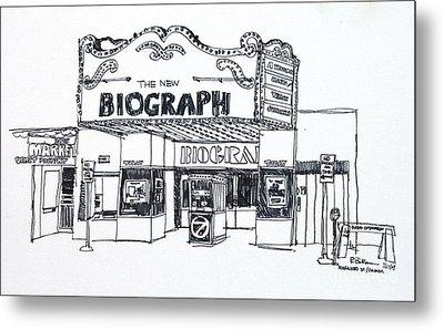 Chicago Biograph Theater Metal Print by Robert Birkenes