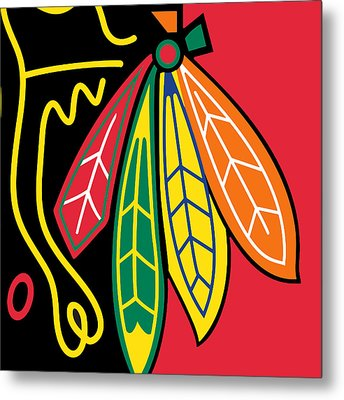 Chicago Blackhawks Metal Print by Tony Rubino