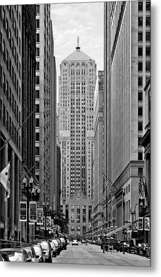 Chicago Board Of Trade Metal Print by Christine Till