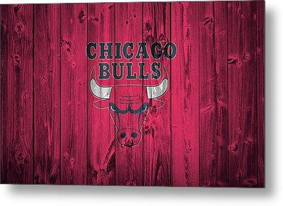 Chicago Bulls Barn Door Metal Print by Dan Sproul