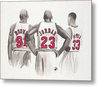 Chicago Bulls Metal Print by Megan Padilla