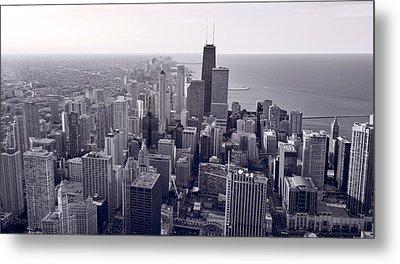 Chicago Bw Metal Print by Steve Gadomski