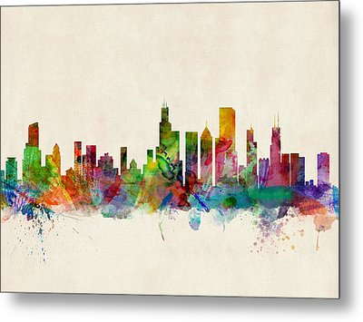 Chicago City Skyline Metal Print by Michael Tompsett