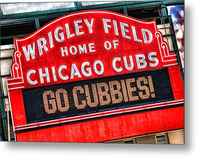 Chicago Cubs Wrigley Field Metal Print by Christopher Arndt
