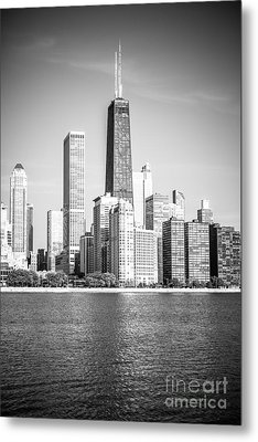 Chicago Hancock Building Black And White Picture Metal Print by Paul Velgos
