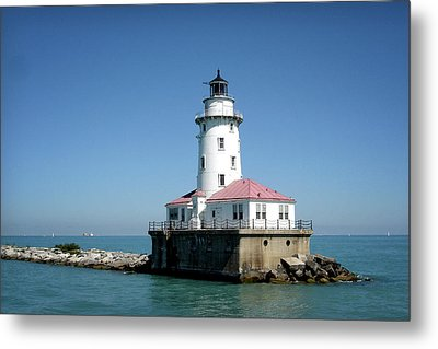 Chicago Lighthouse Metal Print by Julie Palencia
