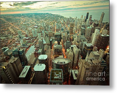 Chicago Ligths Metal Print by Will Cardoso