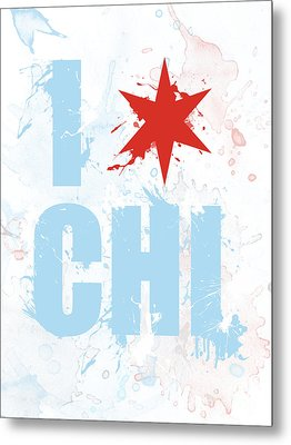 Chicago Love Too Metal Print by Mike Maher