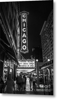 Chicago Nights Metal Print by Terry Rowe