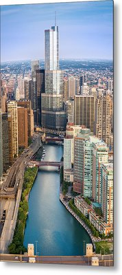 Chicago River Sunrise Metal Print by Steve Gadomski