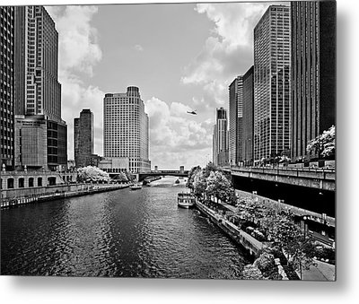Chicago River - The River That Flows Backwards Metal Print by Christine Till