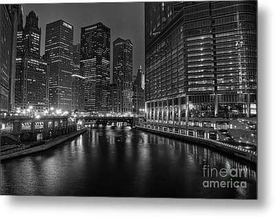 Chicago Riverwalk Metal Print by Eddie Yerkish