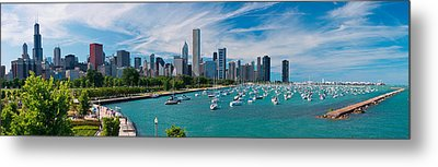 Chicago Skyline Daytime Panoramic Metal Print by Adam Romanowicz