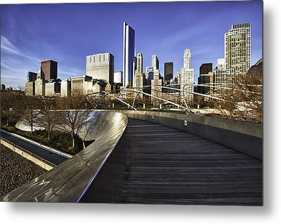 Chicago Skyline At Sunrise Metal Print by Sebastian Musial