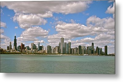 Chicago Skyline Metal Print by Sharin Gabl