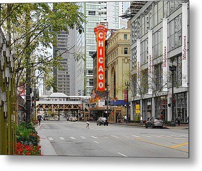 Chicago Theatre - French Baroque Out Of A Movie Metal Print by Christine Till