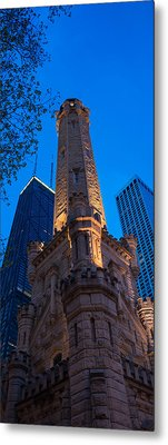 Chicago Water Tower Panorama Metal Print by Steve Gadomski