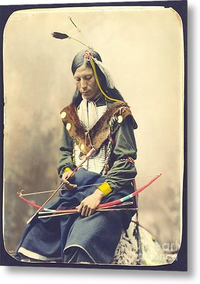 Chief Bone Necklace - Sinte Metal Print by Pg Reproductions