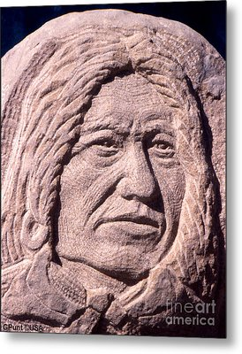 Chief-spotted-tail Metal Print by Gordon Punt