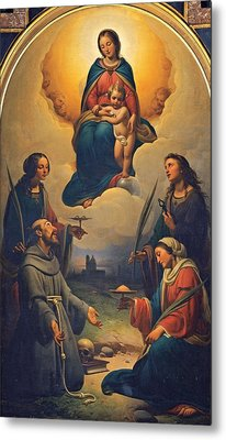 Chierici Alfonso, Madonna And Child Metal Print by Everett