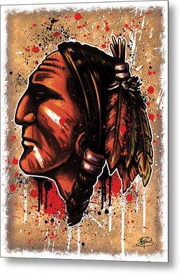 Chihawk Metal Print by Michael Figueroa