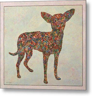 Chihuahua-shape Metal Print by James W Johnson