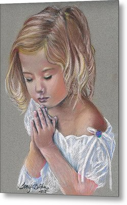 Child In Prayer Metal Print by Tonya Butcher