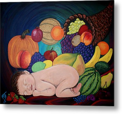 Child Of Plenty Metal Print by Pamorama Jones
