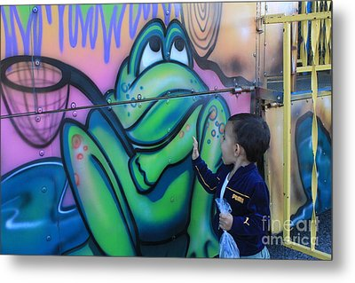 Child With Graffiti Metal Print by Lotus