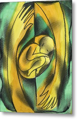 Childbirth Metal Print by Leon Zernitsky