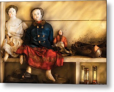 Children - Toys - Assorted Dolls Metal Print by Mike Savad