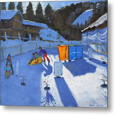 Childrens Ice Rink Metal Print by Andrew Macara
