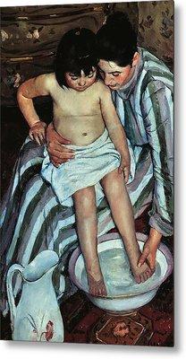 Child's Bath Metal Print by Mary Cassatt