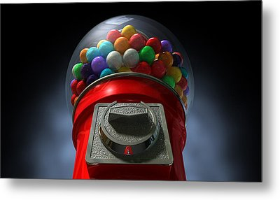 Childs View Of The Gumball Machine Metal Print by Allan Swart