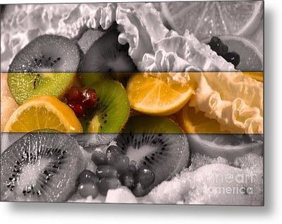 Chilled Metal Print by KJ Bruce - Infinity Fusion Art