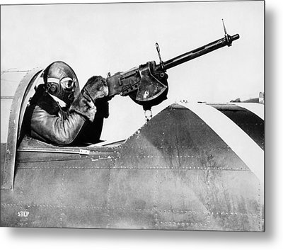 Chilly Army Air Corp Plane Metal Print by Underwood Archives