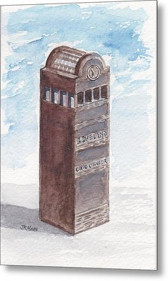 Chilson Clock Tower Metal Print by Julie Maas