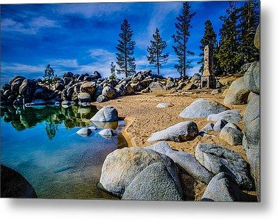 Chimney Beach Lake Tahoe Metal Print by Scott McGuire