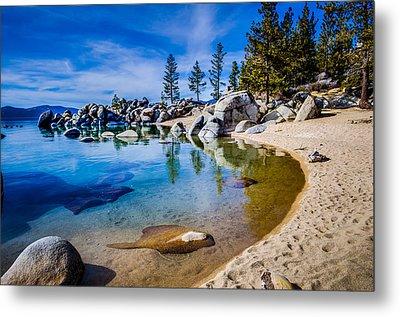 Chimney Beach Lake Tahoe Shoreline Metal Print by Scott McGuire