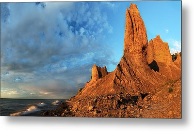 Chimney Bluffs 2 Metal Print by Mark Papke