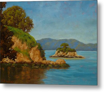 China Camp And Rat Island Metal Print by Steven Guy Bilodeau