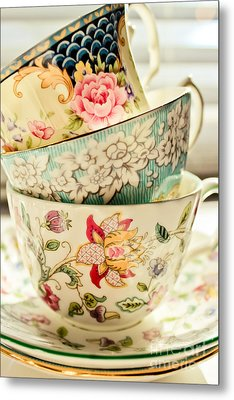 China Cups Metal Print by Colleen Kammerer