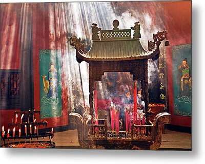 China, Hangzhou, Lingyin Buddhist Metal Print by Miva Stock