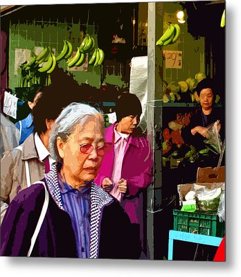 Chinatown Marketplace Metal Print by Joseph Coulombe