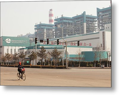 Chinese Coal Fired Power Station Metal Print by Ashley Cooper