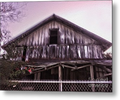 Chino Haunted Barn Metal Print by Gregory Dyer
